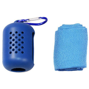 Quick-Drying Portable Sports Towel With Silicone Case-Home & Garden-airvog.com-BLUE-S-airvog
