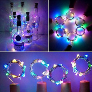 DIY Bottle Lights Artwork Unique Handcrafts-Home & Garden-airvog.com-COLORFUL-airvog