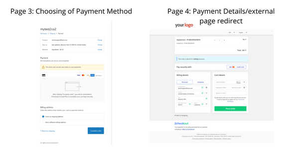 2checkout pages 3 & 4