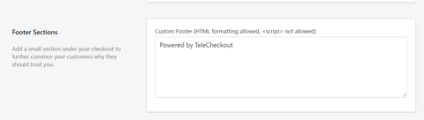 TeleCheckout Footer Section