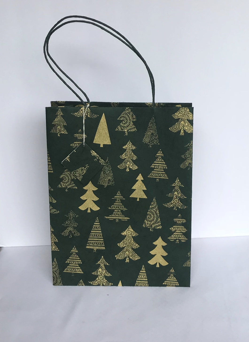 Gift Bags-Dark Green Tree Design