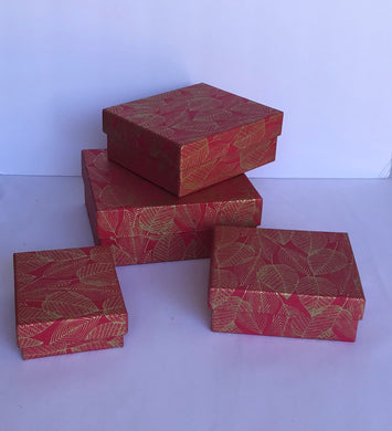 Gift Box- Golden Leaf Design