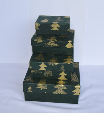 Gift Box- Green Tree Design