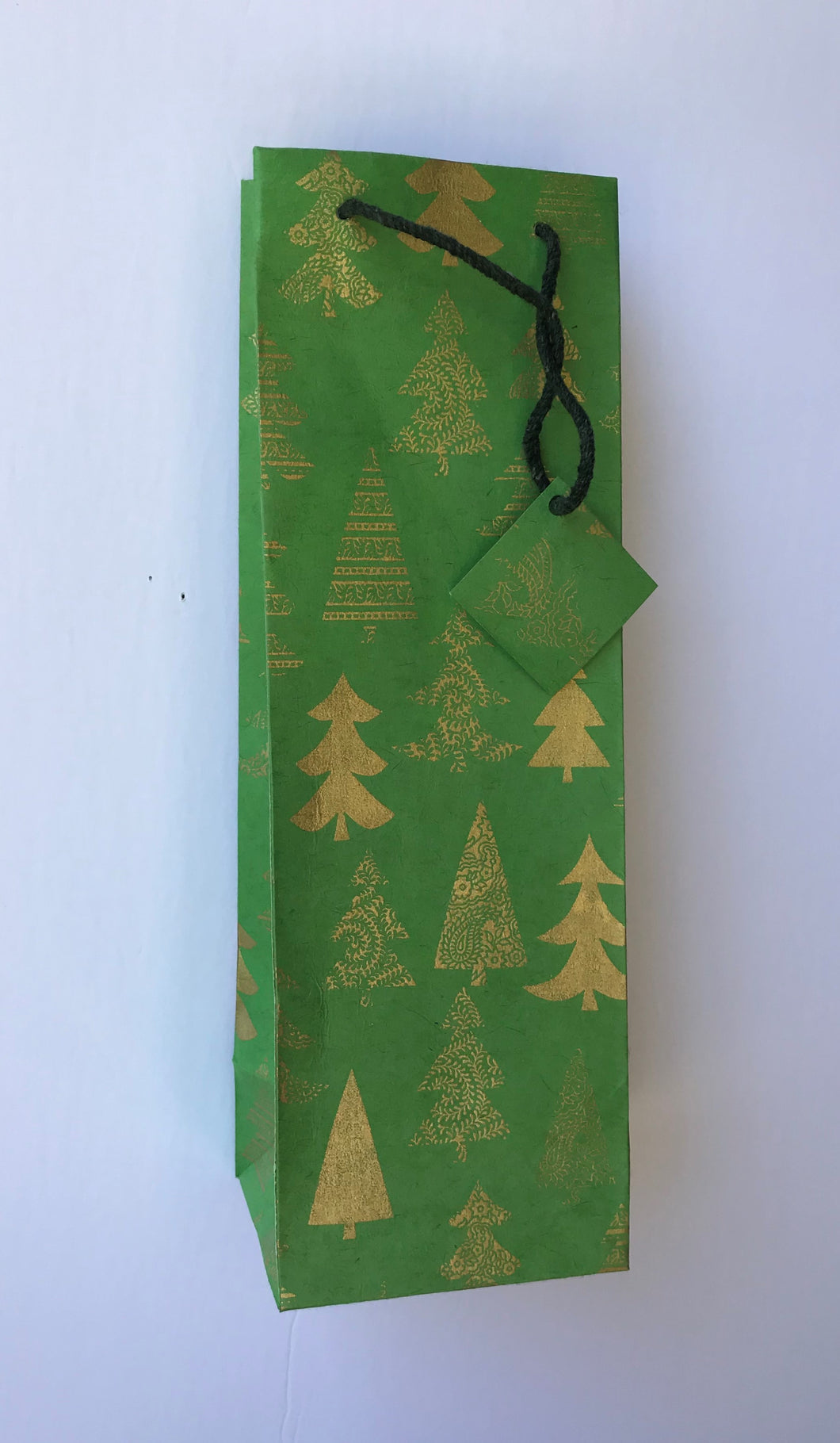 Wine Bag- X-mas Tree (Pack of 12 bags)
