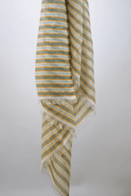 Load image into Gallery viewer, Neo cotton striped scraf lemon lime