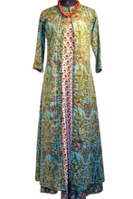 Load image into Gallery viewer, Rajini Dress & Coat Set - Teal & Red