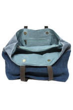 Load image into Gallery viewer, jute double denim bag