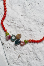 Load image into Gallery viewer, turquoise gem necklace