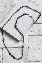 Load image into Gallery viewer, black onyx pearl necklace