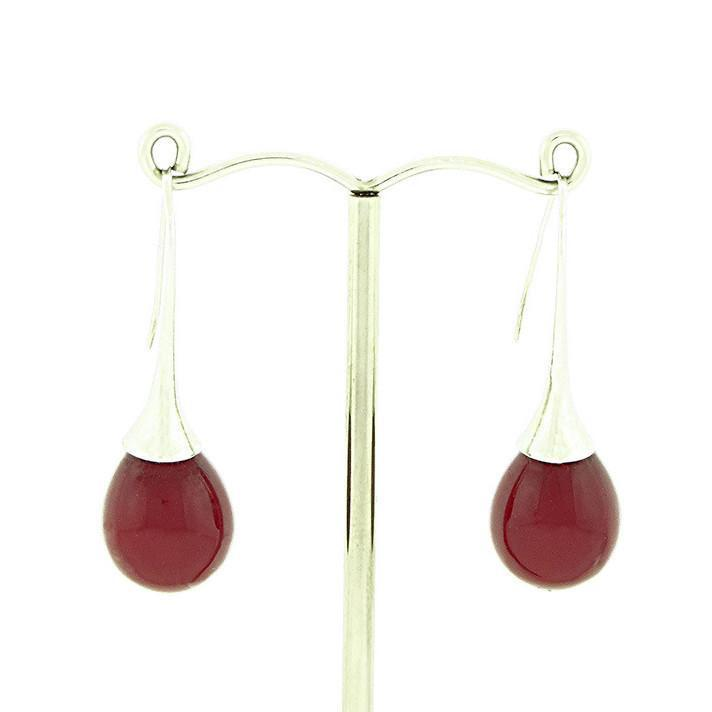 large teardrop pearl earrings
