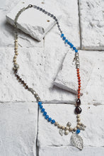 Load image into Gallery viewer, blue agate beaded necklace