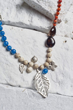 Load image into Gallery viewer, blue agate necklace