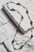 Load image into Gallery viewer, Fiji Sunset Necklace Teal/Orange