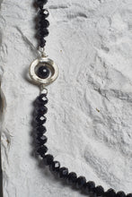 Load image into Gallery viewer, black agate bead necklace