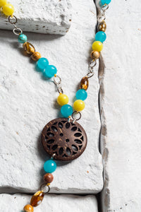 Winona Necklace Blue