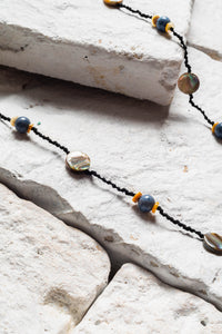 Bora Bora Necklace, Blue Coral And Shell