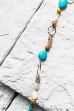 Load image into Gallery viewer, Juliette Necklace, Green Turquoise & Agate