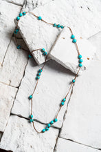 Load image into Gallery viewer, turquoise rope necklace