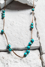 Load image into Gallery viewer, Turquoise Bead Rope Necklace