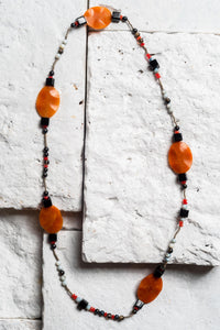 black and orange necklace