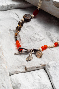 Tanya - Smoky Quartz and Brown Jasper Choker