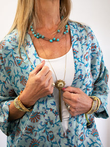 turquoise rope necklace