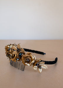 brass evening headband