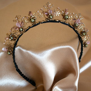Secret Garden Brass Floral Headband