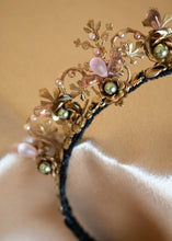 Load image into Gallery viewer, Brass Floral Headband
