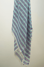 Load image into Gallery viewer, Neo cotton striped scraf blue heaven