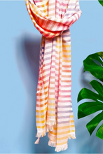 Load image into Gallery viewer, Cotton handloomed summer scarf Sparkle