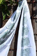 Load image into Gallery viewer, Island Escape screenprinted cotton scarf