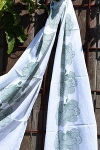 Island Escape screenprinted cotton scarf