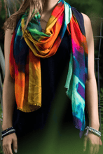Load image into Gallery viewer, Madrid Rainbow Coloured Scarf
