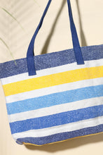 Load image into Gallery viewer, striped beach tote