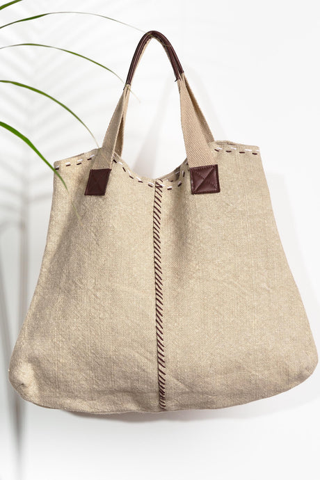 Due North Jute Carry Tote, avail 2 colours