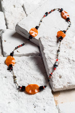 Load image into Gallery viewer, Black Onyx And Orange Necklace