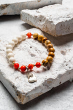 Load image into Gallery viewer, Minnie Bracelet, White/Coral