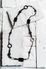 Load image into Gallery viewer, black onyx stone necklace