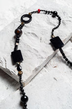 Load image into Gallery viewer, onyx bead necklace