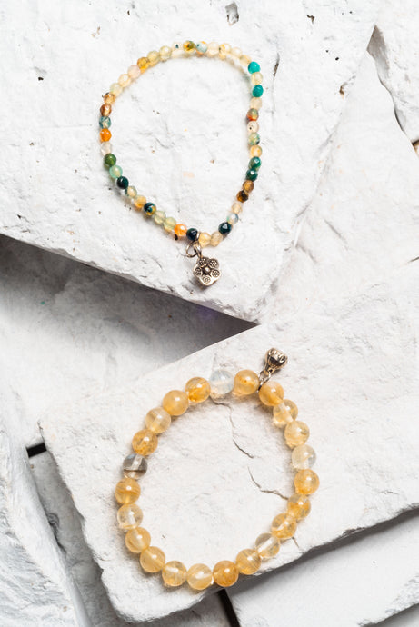 Citrine Blossom 2 Bracelet Set, avail 5 colours
