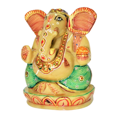 yellow agate ganesha