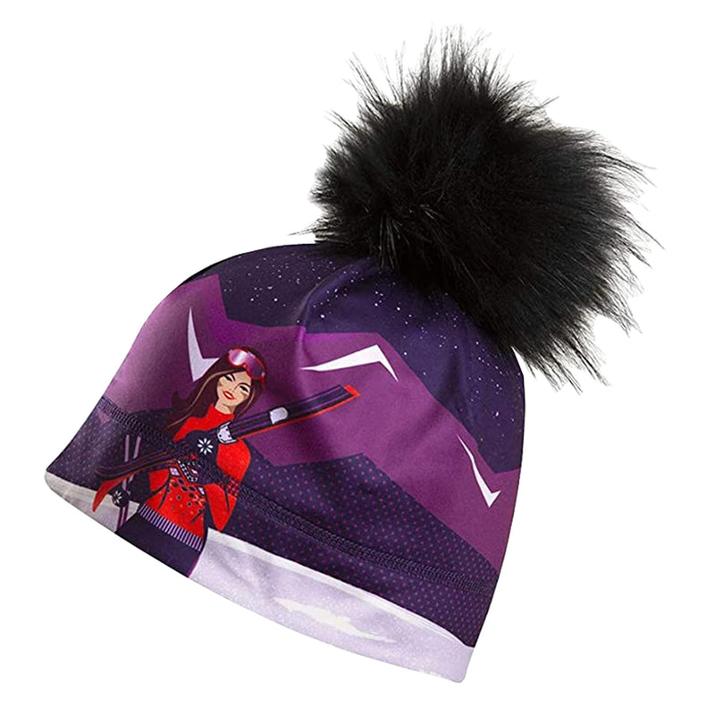 Summit Express Fur Pom Beanie
