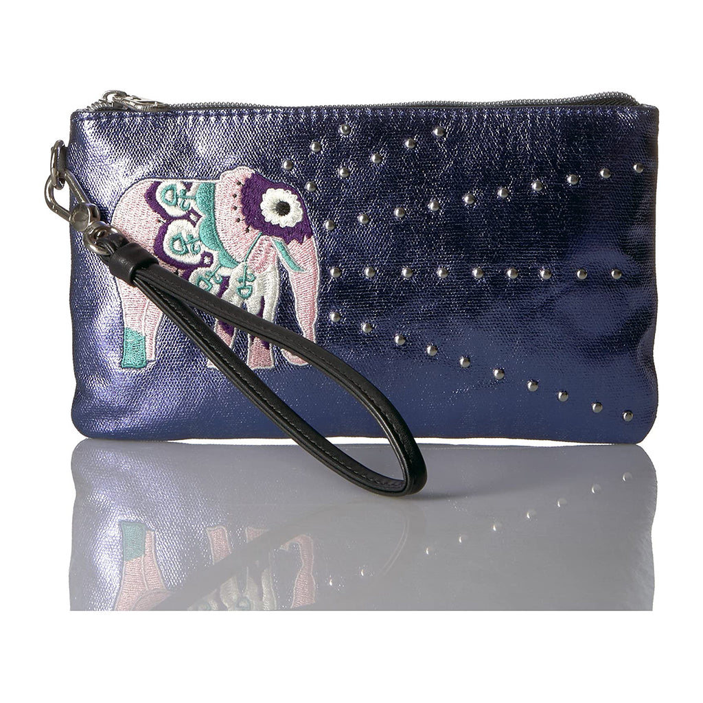 Coated Canvas Charging Wristlet