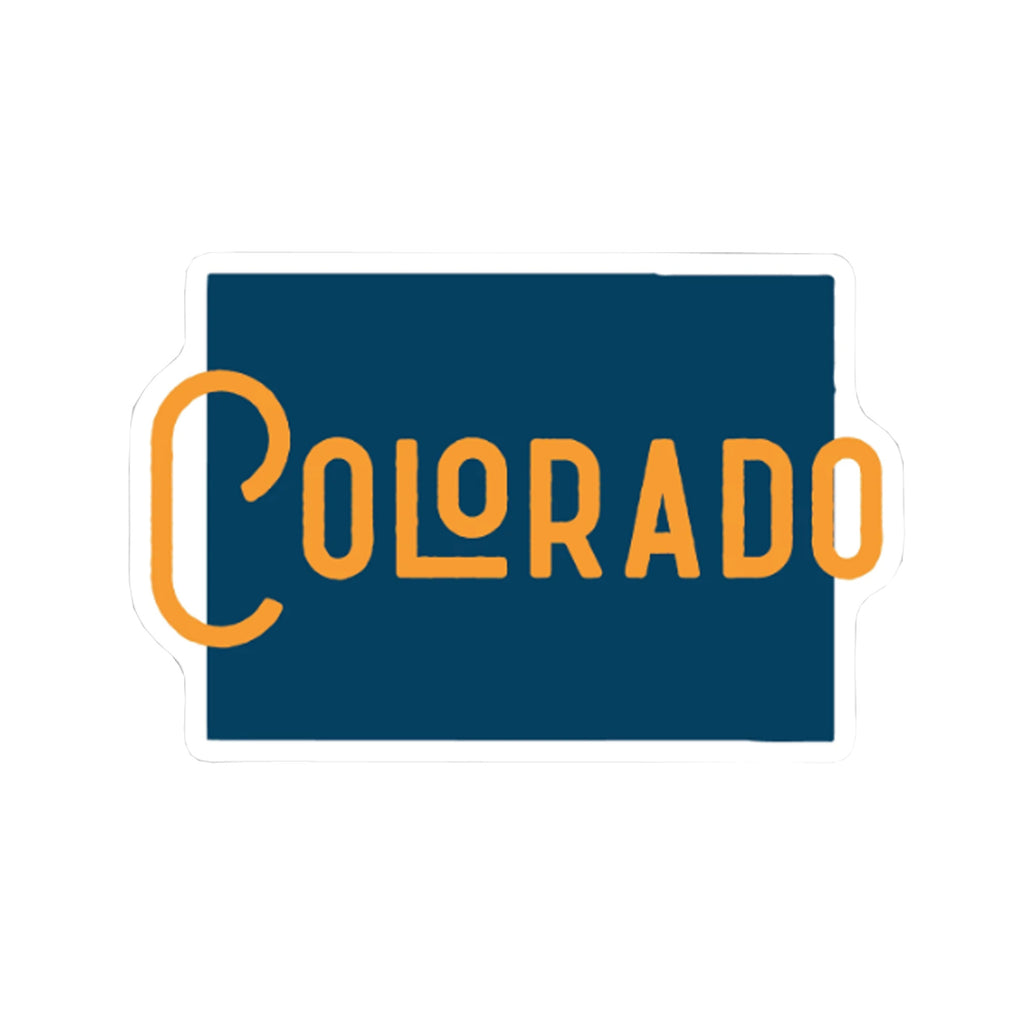 Colorado State Name Sticker