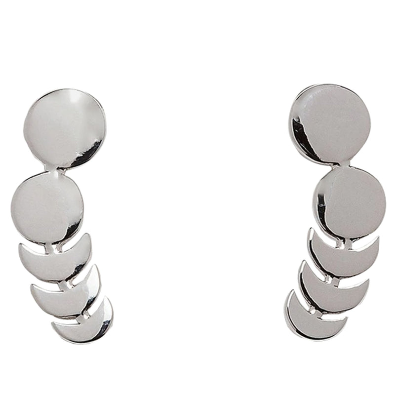 Moon Phases Ear Climber Ring