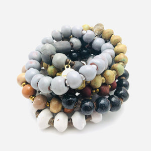 Ceramic Bead Bracelet Refill Pack (set of 10)