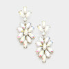 AB Crystal Oval Cluster Vine Pageant Earrings | 366847