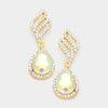 AB Pageant Earrings for Young Girls on Gold | 347162