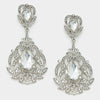 Crystal Earrings |Crystal Pageant Earrings | Clip On  |294176